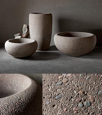 Concrete planters pots interior design