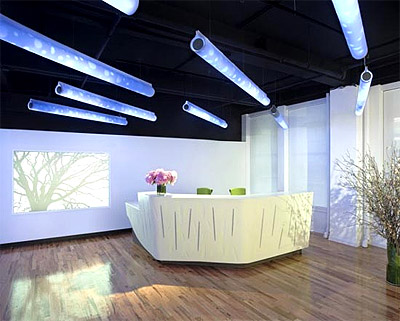 Modern ceiling lighting tubes