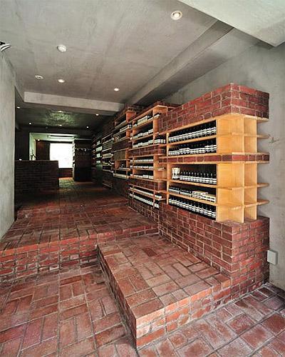 Store interior design with brick