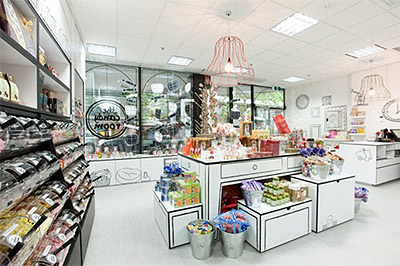 Candy store interior design