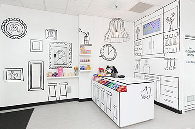 Creative candy store interior design commercial interior Creative interior design