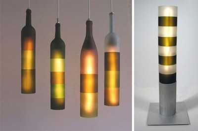 Recycled bottles lights