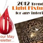 Trendy light fixtures 2012