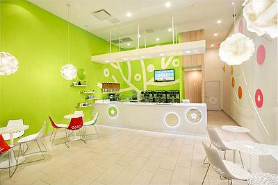 Yogurt shop store design
