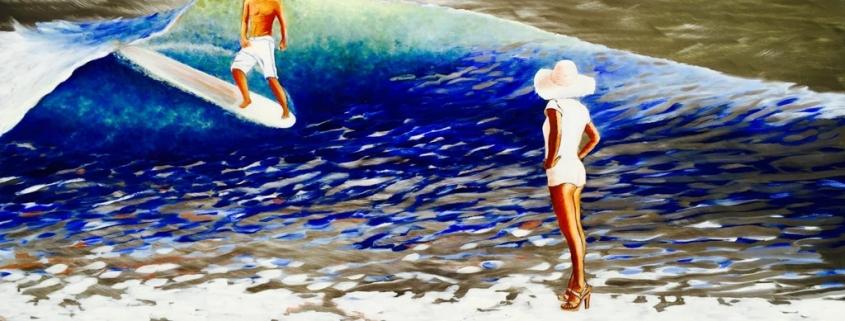 Sasha Toporovsky Ocean Painting