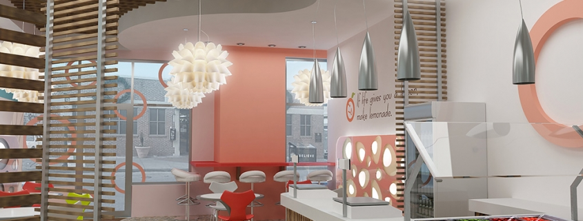Yogurt Store Interior Design