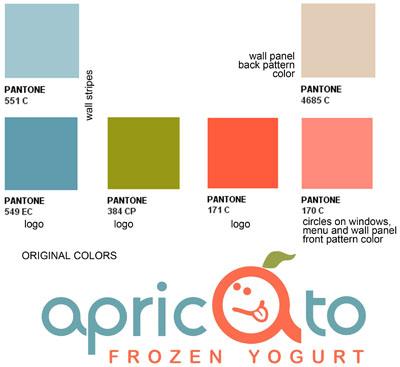 Branding Color For Apricato Yogurt Shop