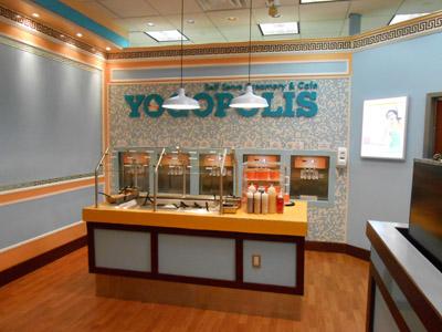 Yogopolis yogurt shop design