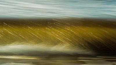 surf ocean art golden
