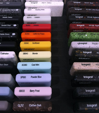 acrylic colors counters design