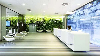 green office design. Green And High-Tech In One Office \u2013 Commercial Interior Design News