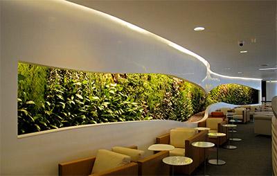 Sky Team Lounge, Heathrow. Vertical Gardens