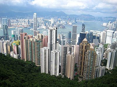 hong kong view from victoria pick