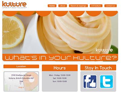 kulture yogurt shop web designer