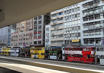 Typical Street in Hong Kong
