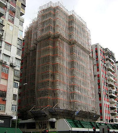 using bamboo for scaffolding hong kong
