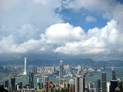 view of hong kong city from victoria-point