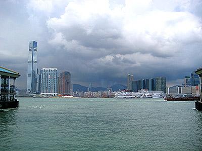 view of hong kong city
