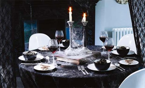 fast decor for halloween dinner