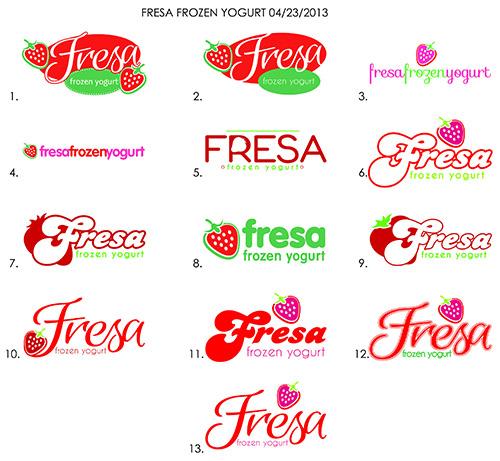 Fresa Frozen Yogurt Logo Design