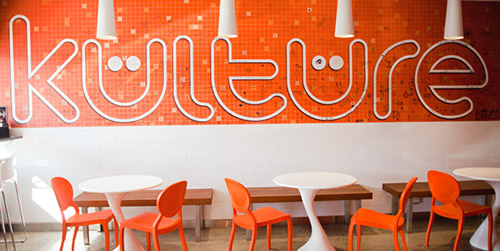 Kulture frozen yogurt interior design