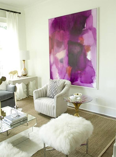 radiant orchid color interior art accent