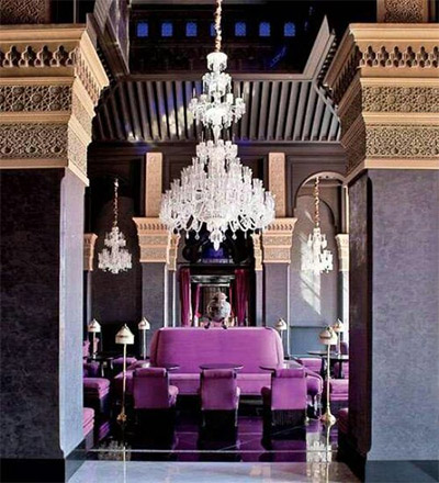 radiant orchid color interior morocan