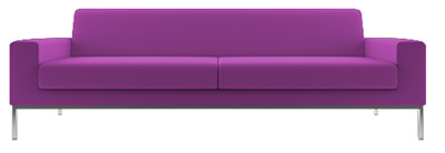 radiant orchid color interior sofa