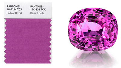 radiant orchid color of 2014 year