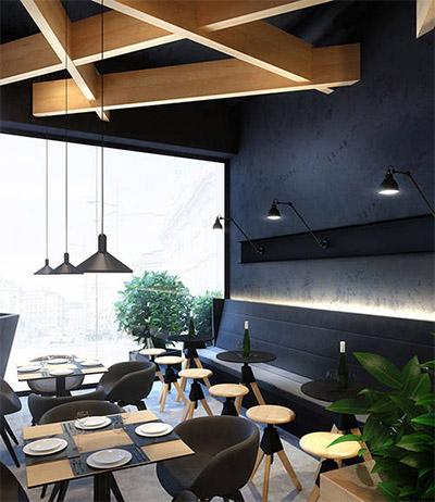 Contemporary Cafe Design In Ukraine Commercial Interior