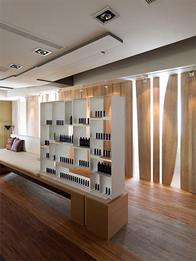 cosmetics store interior design shelf