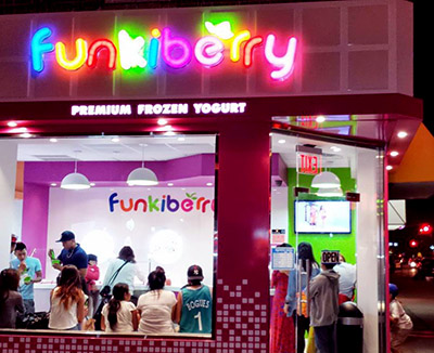 Funkiberry Frozen Yogurt Shop Design
