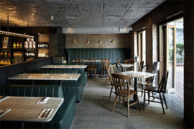 Rustic Pizzeria amp Bar In Shanghai Commercial Interior