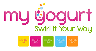 Yogurt final logo with pantones