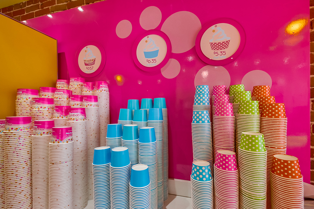 Yogurt ice cream dessert store design