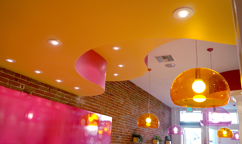 Yogurt ice cream dessert store design store front