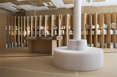 book store interior design shelving