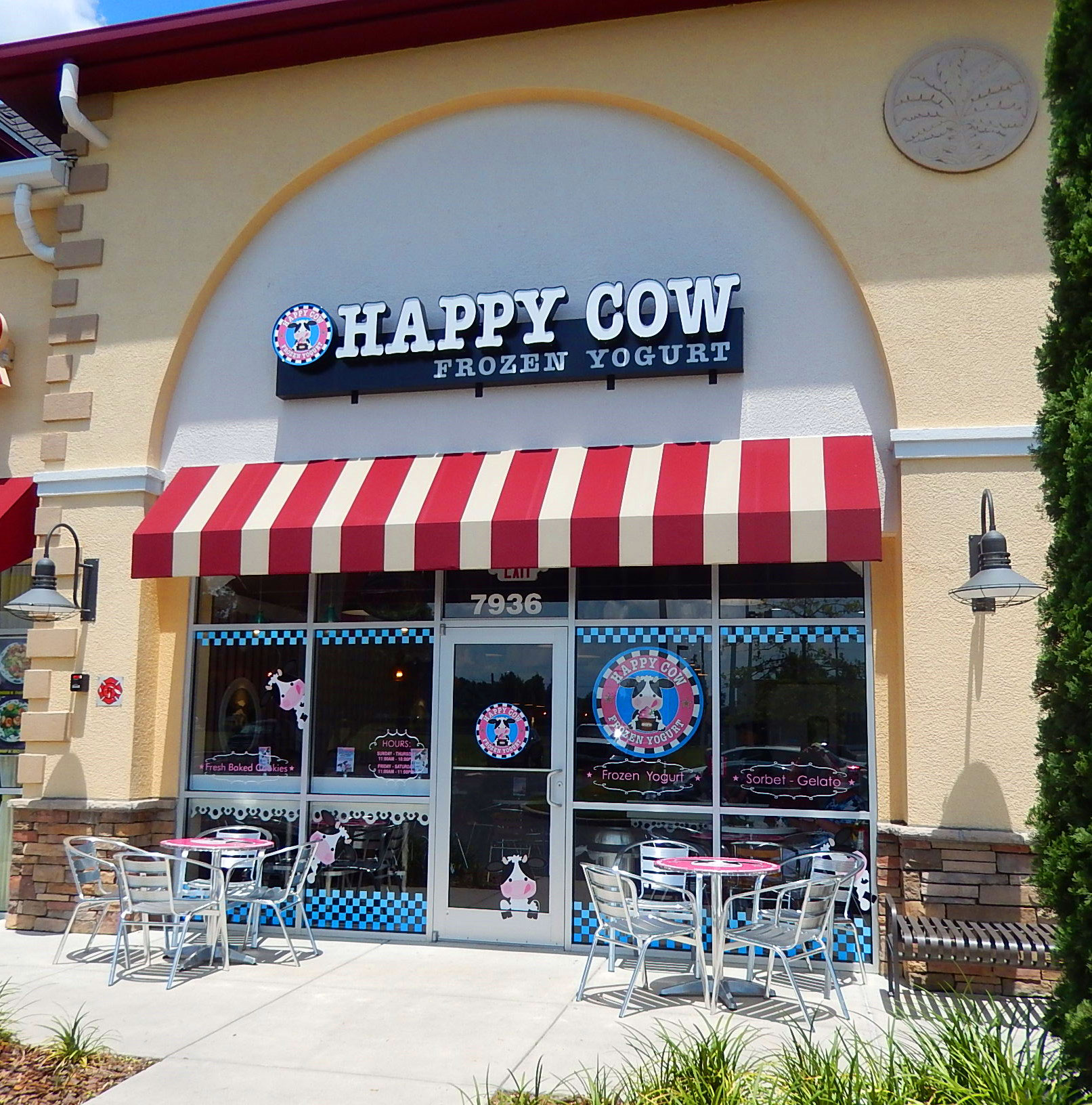 Happy Cow Frozen Yogurt Shop Interior Design
