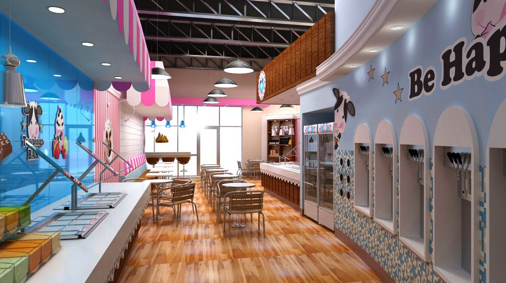 Happy Cow Yogurt Shop Design by Mindful Design Consulting