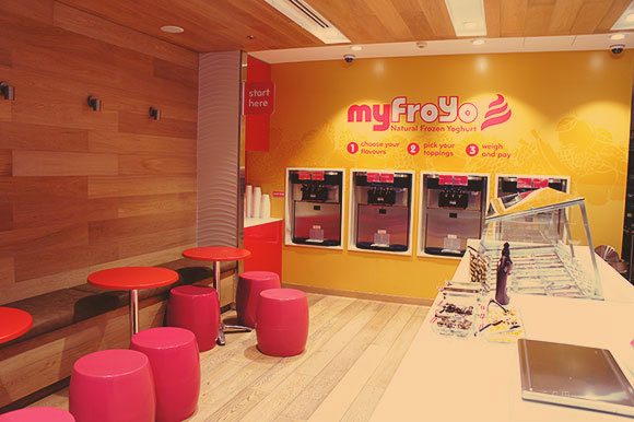 frozen yogurt shop designer