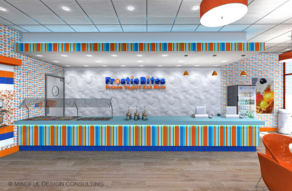 Frostie Bites yogurt shop design