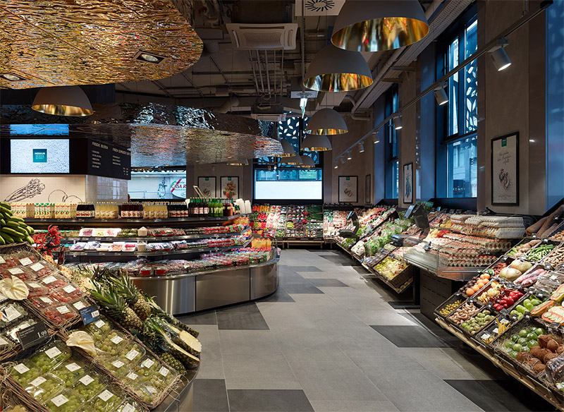 Amazing Supermarket In Vienna Commercial Interior Design