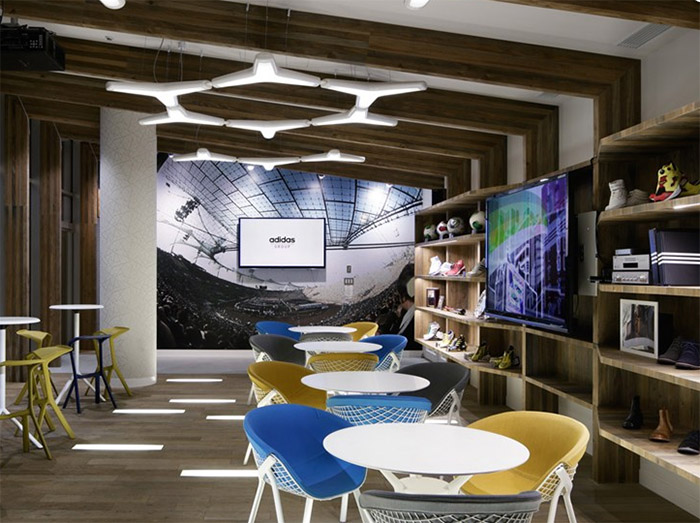 adidas office interior design in japan commercial
