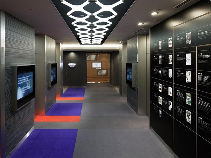 Corridor Design Color: Adidas Office Interior Design In Japan