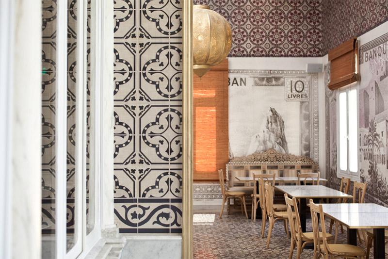 Mediterranean restaurant in beirut commercial interior