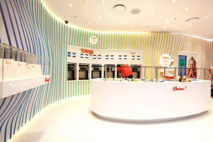 Unique Yogurt Shop Interior Design