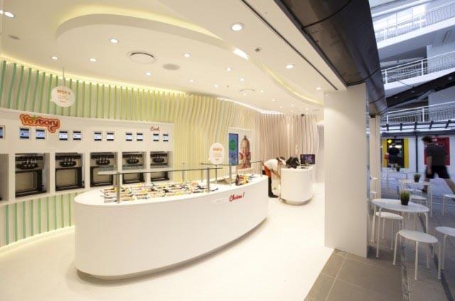 frozen yogurt shop design
