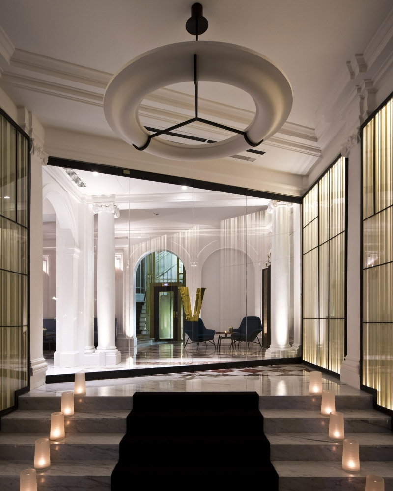 Vernet Hotel Interior Design In Paris Commercial