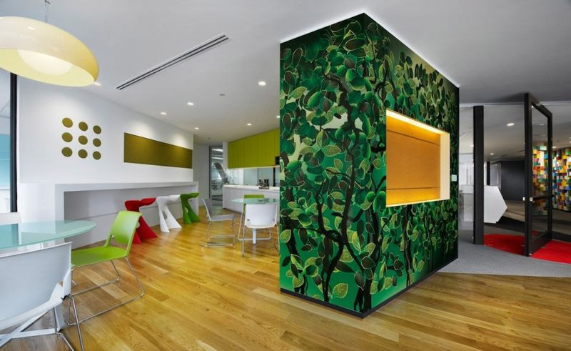 Vibrant Sherwin Williams Office Interior Design In Malaysia Commercial Interior Design News