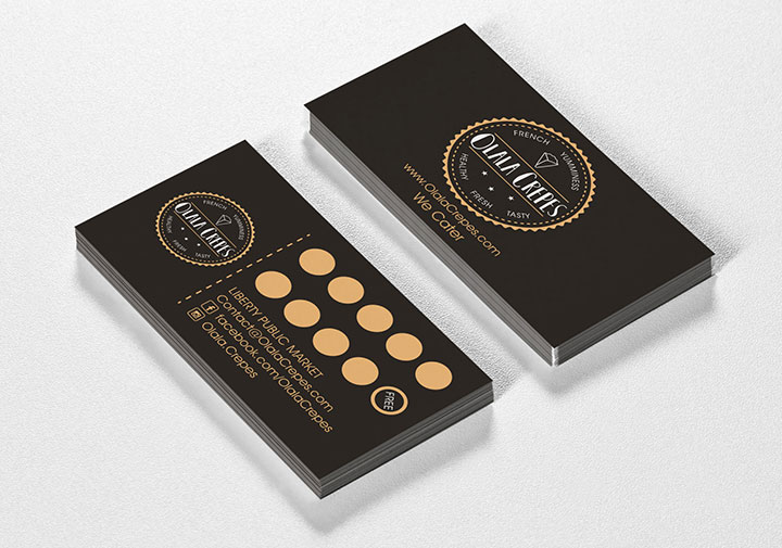 Designing business cards as part of the brand package
